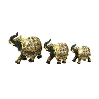Polystone 7-inch High Elephants (Set of 3)
