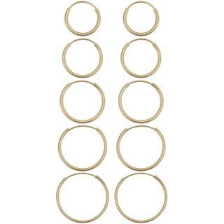 Link to 14k Yellow Gold Round Hoop Earrings Similar Items in Earrings