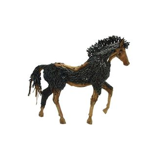 Wood Metal 84-inches Wide x 73-inches High Horse