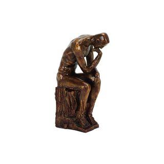 Polystone 13-inch High x 6-inch Wide Thinker Sculpture