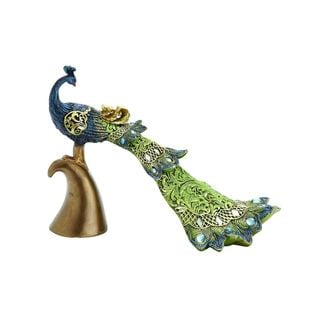 Polystone 10-inches Wide x 8-inches High Peacock