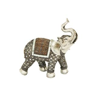 Polystone 9-inches Wide x 10-inches High Elephant