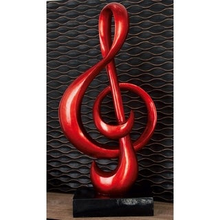 PS Foil Finish 16-inch Wide x 33-inch High Treble Clef Sculpture