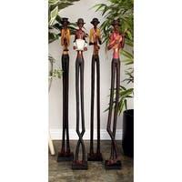 Polystone 5-inches Wide x 40-inches High Jazz Band (Set of 4)