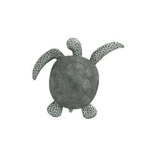 Grey Polystone 2-inches High x 17-inches Wide Sea Turtle