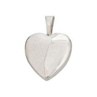 Decadence Sterling Silver Rhodium High-polished 13-millimeter Heart Locket Pendant