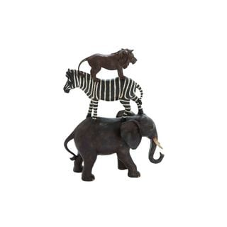 Polystone African Animals 15-inches High x 11-inches Wide