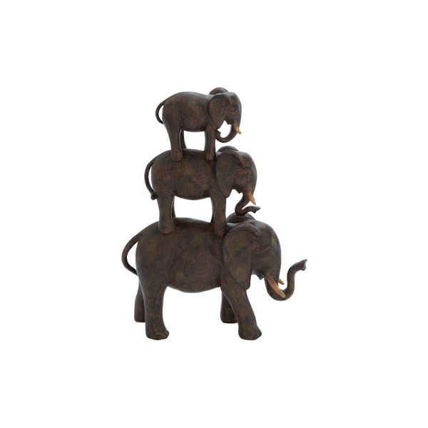 The Curated Nomad Merced Polystone Elephant Stack