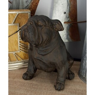 Bronze-finish Polystone 11-inches High x 10-inches Wide Bulldog Sculpture