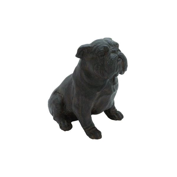 Bronze-finish Polystone 11-inches High x 10-inches Wide Bulldog Sculpture