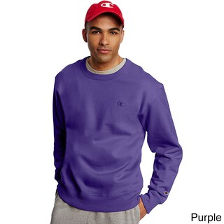 Champion Men's Powerblend Fleece Pullover Crew (Option: 2XL, Purple)