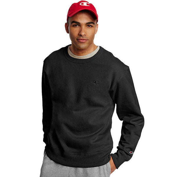4a4dfe547b56 Shop Champion Men's Powerblend Fleece Pullover Crew - Free Shipping ...