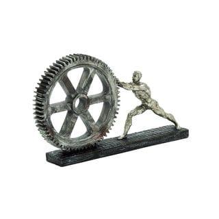 Polystone Gear Wheel Sculpture