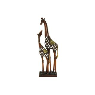 Silver and Gold Giraffe Decorative Sculpture