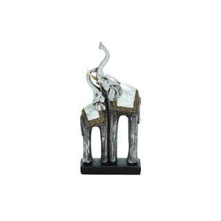 6-inch Wide x 12-inch High Polystone Double Elephant