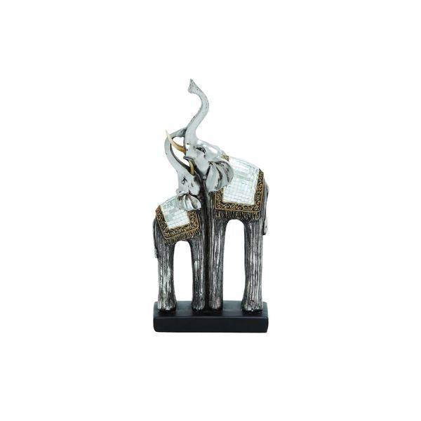 6-inch Wide x 12-inch High Polystone Double Elephant