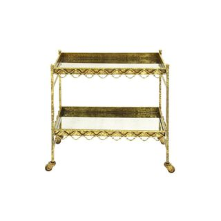 Metal Glass 32-inch Bar Cart