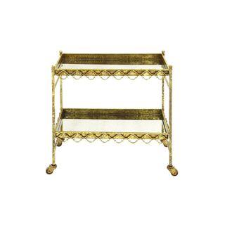 Copper Grove Wickaboxet Metal Glass 32-inch Bar Cart