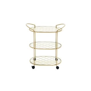 Metal Glass 31-inch Bar Cart