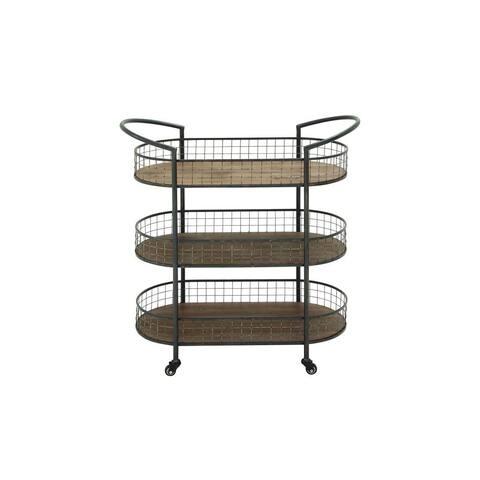 Carbon Loft Venter Sur Metal and Wood 3-tier Bar Cart