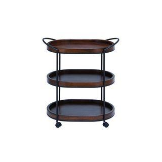Metal Wood 3 Tier Bar Cart