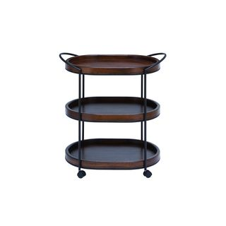 Palm Canyon Waverly Metal Wood 3-tier Bar Cart