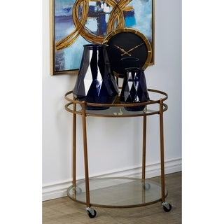 Metal Glass 27-inch Bar Cart