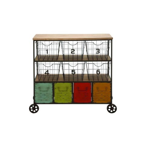The Curated Nomad Fritz Metal Storage Cart with Baskets
