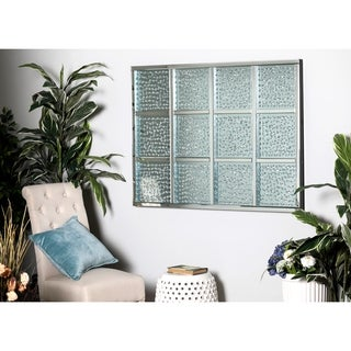 WD Modern Reflections Glass 47-inch x 36-inch Decorative Wall Art