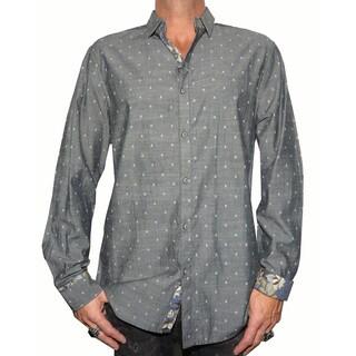 Rock Roll N Soul Men's 'GIMME A LIL SKULL' Woven Shirt