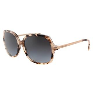 Michael Kors MK 2024 316213 Adrianna II Pink Tortoise Plastic Square Grey Gradient Lens Sunglasses