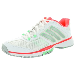 Adidas Women's Barricade Team 4 FTW White Metallic/Flash Red Tennis Shoe