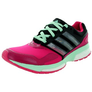 Adidas Women's Response Boost 2 Techfit W Pink/Black Running Shoe