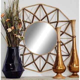 Metal 34-inch-deep Wall Mirror