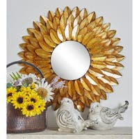 Metal 30-inch Round Wall Mirror