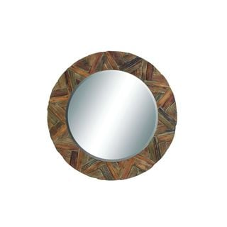 Wooden 49-inch Wall Mirror