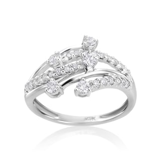 Andrew Charles 14k White Gold 3/5ct TDW Diamond Fancy Ring