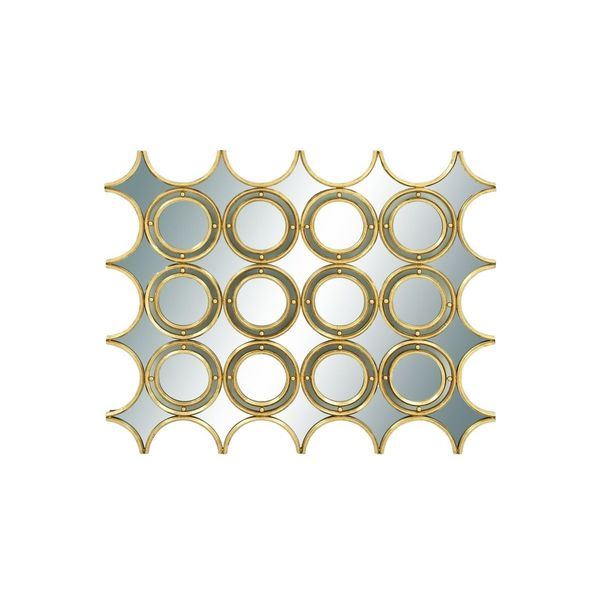 Metal Mirror 45-inch Wide x 36-inch High Wall Decoration
