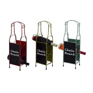 Metal 10-inch Blackboard Wine Holders (Set of 3)
