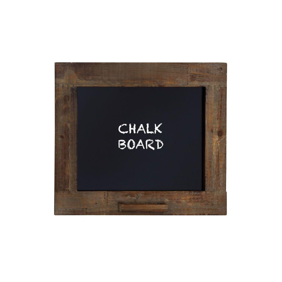 Rustic Walnut Finish Blackboard with Chalk Holder