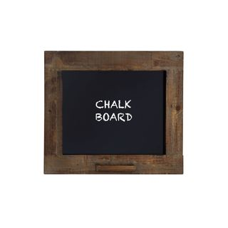 Clay Alder Home Norwalk Rustic Walnut Finish Blackboard with Chalk Holder