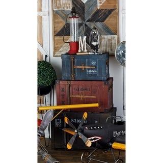 Industrial-style Wood 3-piece 20-, 24-, and 27-inch Trunk Set