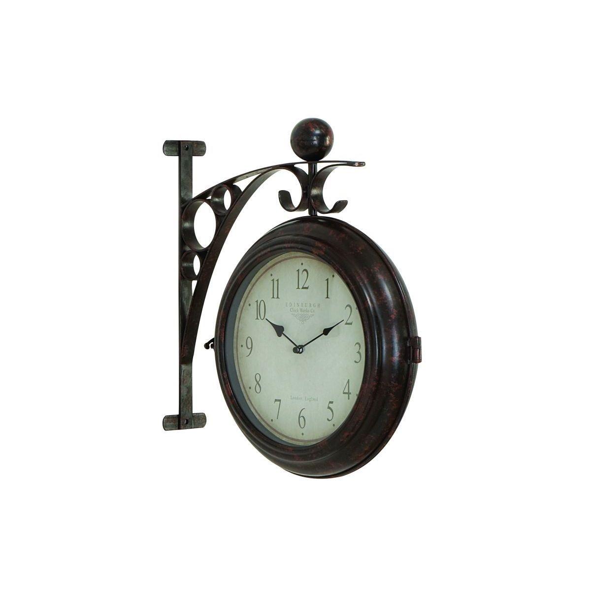 Studio 350 Metal 16-inch x 14-inch 2-Sided Wall Clock (MT...
