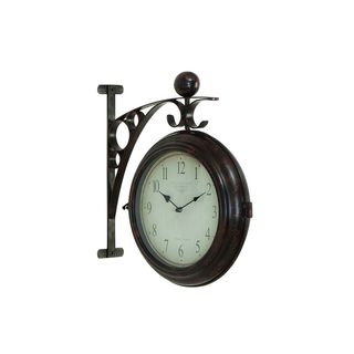 Gracewood Hollow Yeagley Wilson Metal 16-inch x 14-inch 2-Sided Wall Clock