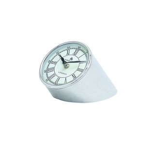 Stainless Steel and Nickel 4-inch High x 5-inch Wide Table Clock