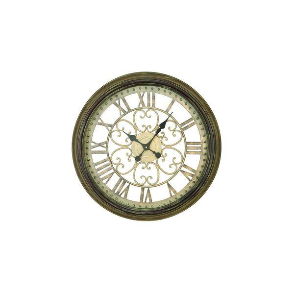 Shop Metal 24 Inch Diameter Wall Clock Free Shipping