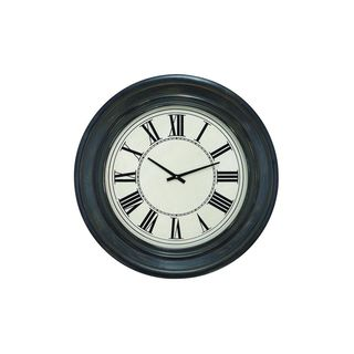 Traditional Ebony Finish Round Wall Clock - Thumbnail 0