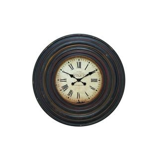 Wood 31-inch Diameter Wall Clock