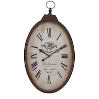 Metal 16-inch Wide x 27-inch High Wall Clock