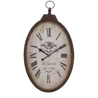 Rustic 27 Inch Round La Galerie Des Arts Iron Wall Clock by Studio 350